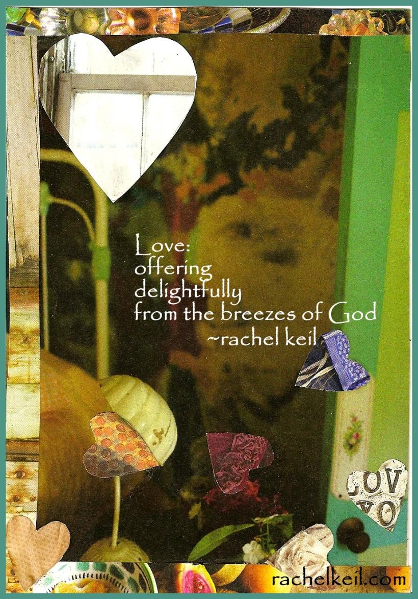 Love Floating in the Open Door Collage-Inspired Blog